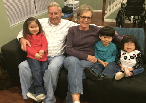 Mick and Betty with Roslyn, Jaden, and Lilyan