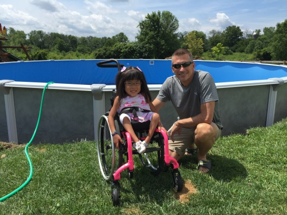 Lilyan with her Make-a-Wish contact, Alan