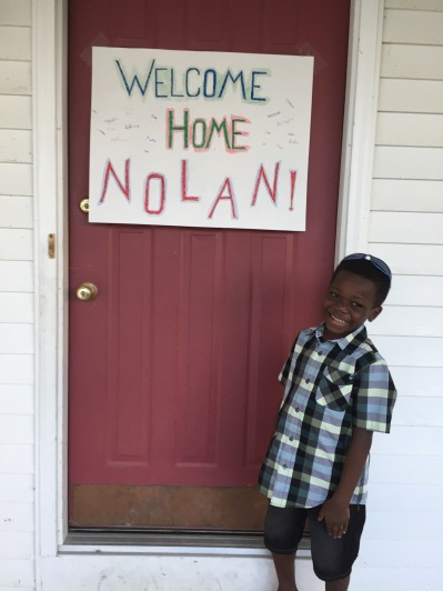 He LOVED this sign so much!