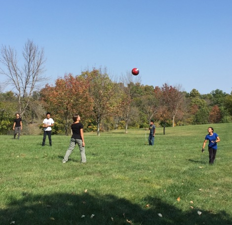 Soccer, football, Frisbee — such a fun afternoon