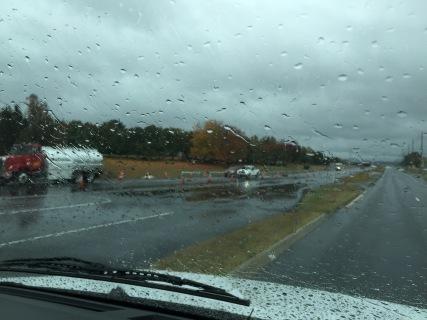 A long rainy drive to Huntsville