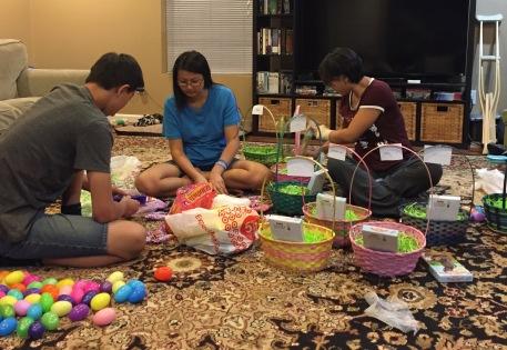 Making Easter Baskets