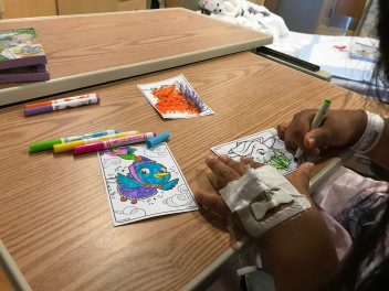 Kathryn's Surgery - Coloring With Mommy