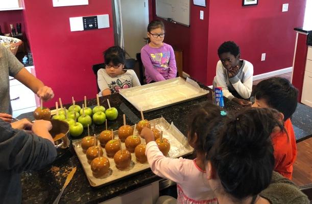 Making Caramel Apples 10-28-18 #1