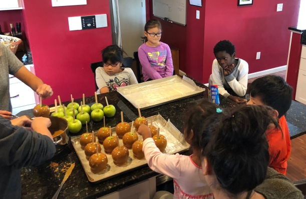 Making Caramel Apples 10-28-18 #1