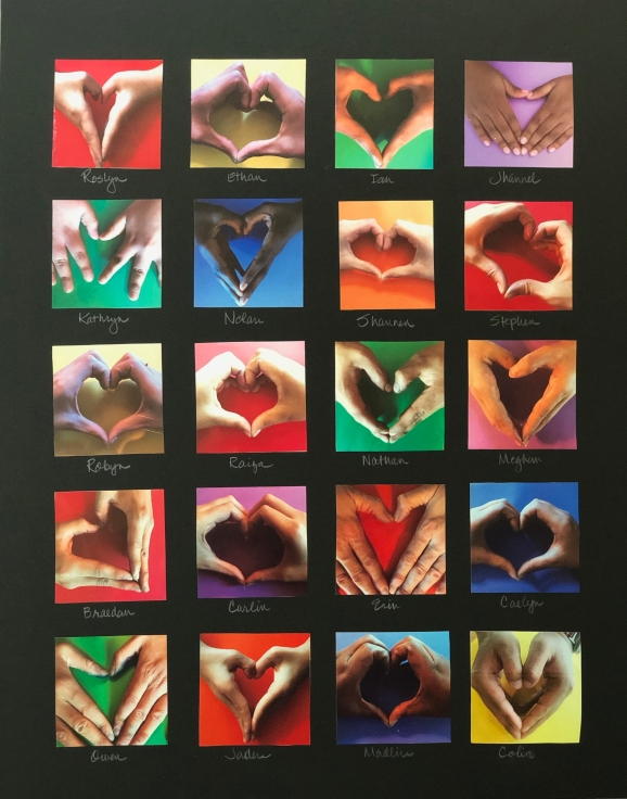 Hand-Heart Art for Lilyan 4-10-19 #1
