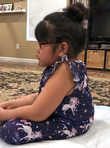 Lilyan Sitting After Surgery #1
