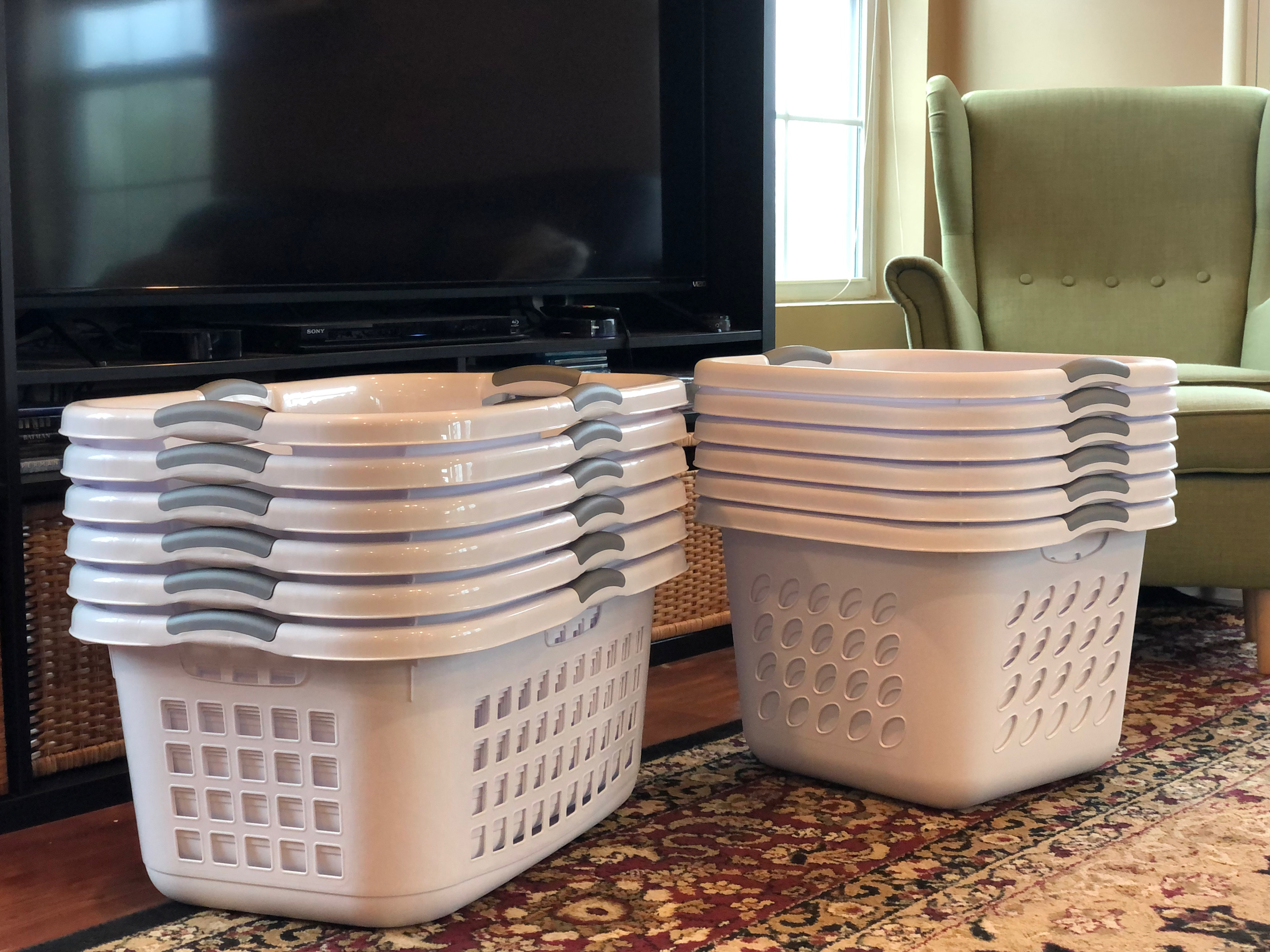 New Laundry Baskets from Amazon Shower 4/20